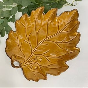 Pottery Barn Leaf serving dish